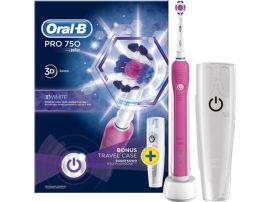 Oral-B PRO 750 3D White fogkefe + úti tok 2016OND