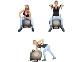 Vivamax gimnasztikai labda stabilizáló gyűrű gumikötéllel - GYVFGY