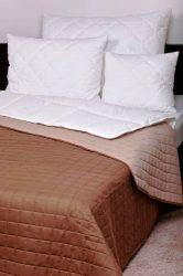 Laura microfiber ágytakaró 140x240cm barna-drapp