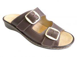 Komfort Style Női 2 csatos Barna papucs -5053