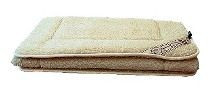 Gyapjú derékalj natúr Birka gyapjú lepedő 90x200cm 450g/m2