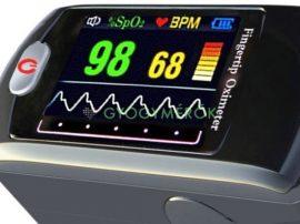 S9 pulzoximéter, ujjra csíptethető