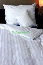 5 részes pamut,-szatén ágynemű huzat garnitúra (Fehér csíkos)10135