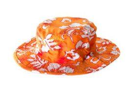Baby-Kidz Banz gyermek Virágos narancs sapka